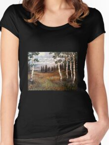 """Rocky Mountain Meadow"" Women's Fitted Scoop T-Shirt"