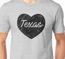 Love Texas - Heart TX - Deep in the Heart of Texas Unisex T-Shirt