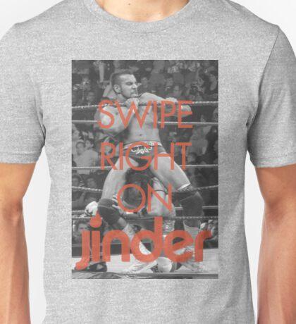 Swipe Right on Jinder Unisex T-Shirt