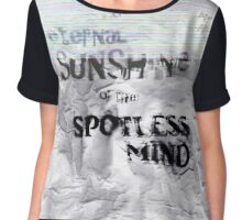 The eternal sunshine of the spotless mind Chiffon Top