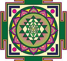 Sri Yantra Mandala by GalacticMantra