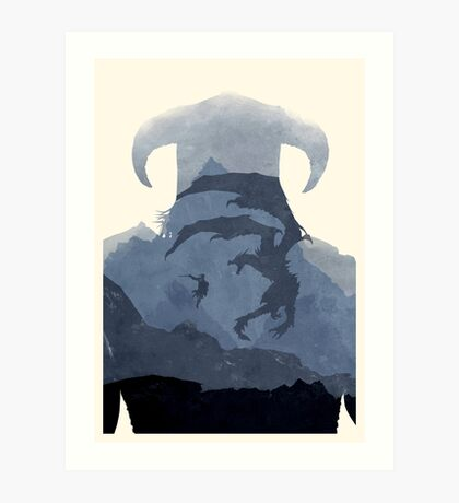 Skyrim II (No Text) Art Print