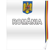 Romanian Sports Jersey Design - Romania National Style Poster