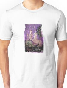 Medieval Art - Lady and the Unicorn in Purple Unisex T-Shirt