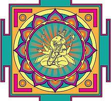 Ganesha Mandala by GalacticMantra