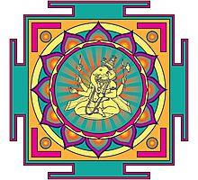 Ganesha Mandala Photographic Print