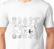 Super Smash Bros. Character Logos Unisex T-Shirt