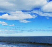 Ocean Landscape, Plum Island NH  Sticker