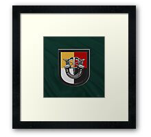 U.S. Army 3rd Special Forces Group – 3 SFG Beret Flash over Green Beret Felt Framed Print