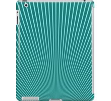 Abstract Vintage Background from Blue Fanning Lines iPad Case/Skin