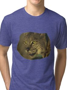 Wild Eyes Series - The Savannah Cat Tri-blend T-Shirt