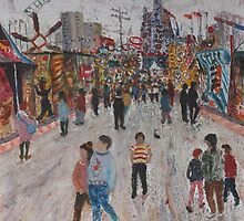 Ekka Side Show Alley no3 by Howard Sparks