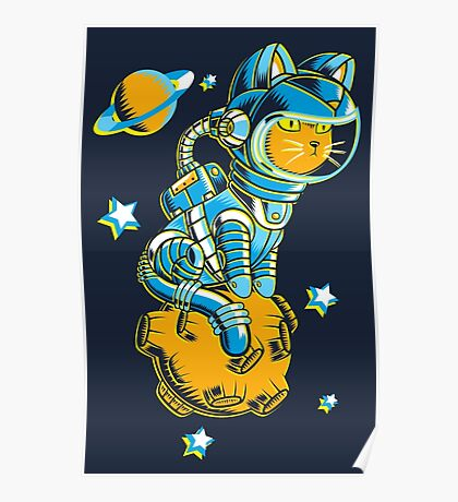 Space Cat Poster