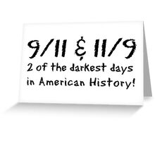 9-11 11-9 Coincidence Greeting Card