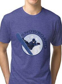 Extreme sport snowboard design Tri-blend T-Shirt