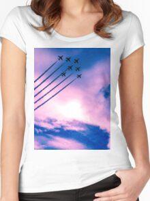 Purple Arrows Women's Fitted Scoop T-Shirt