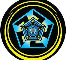 Pentagon Crop Circle by GalacticMantra