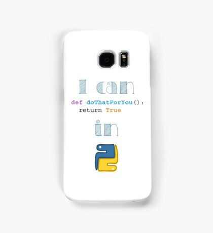 Do It in Python Samsung Galaxy Case/Skin