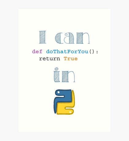 Do It in Python Art Print