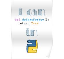 Do It in Python Poster
