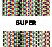 Super - A superhero themed simple design Photographic Print