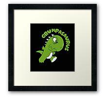 Grumpasaurus Rex  Framed Print