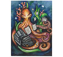 Library Octopus  Photographic Print