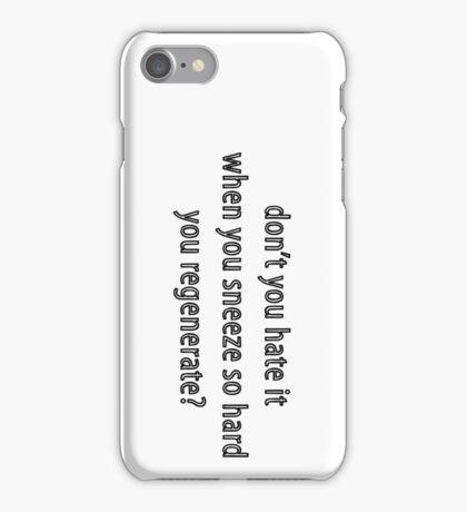 Regeneration problem 101: Sneezing iPhone Case/Skin