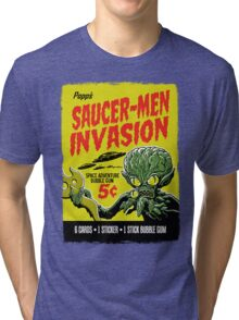 SAUCER-MEN INVASION Tri-blend T-Shirt