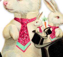 Three Magic Rabbits Sticker