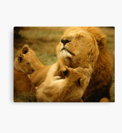 """Dad Time"" Canvas Print"