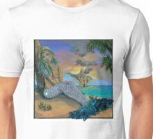 Sexy Mermaid Watching Some Fireworks Unisex T-Shirt