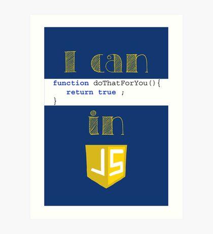 Do It in Javascript Art Print