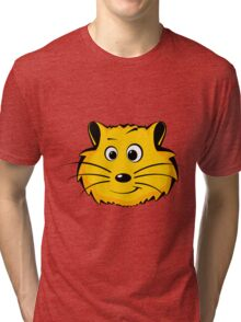 A cartoon hamster face Tri-blend T-Shirt