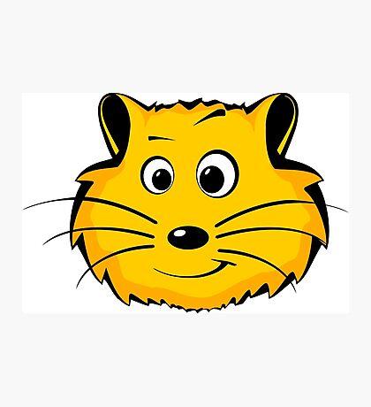 A cartoon hamster face Photographic Print