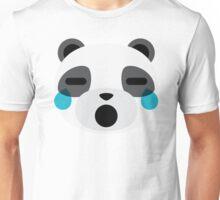 Emoji Panda Teary Eyes and Sad Look Unisex T-Shirt