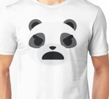 Emoji Panda Angry and Mean Face Unisex T-Shirt