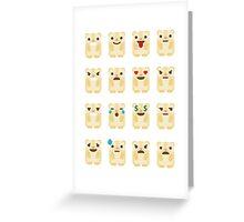 Emoji Guinea Pig Different Facial Expression Greeting Card