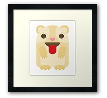 Emoji Guinea Pig Tongue Out Framed Print