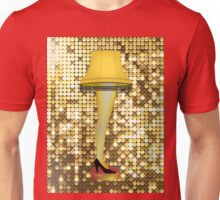christmas gold leg lamp Unisex T-Shirt