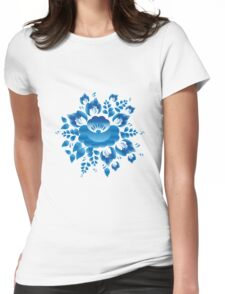 Gzel Flowers Womens Fitted T-Shirt