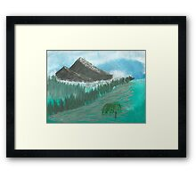Willow Valley Framed Print