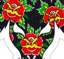 RED ROSE BAPHOMET Sticker