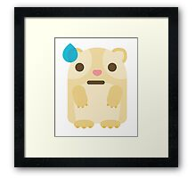 Emoji Guinea Pig Big Sweat Framed Print