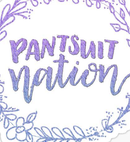 Pantsuit Nation Wreath watercolor Sticker