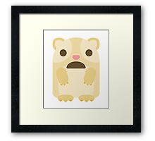 Emoji Guinea Pig Surprised Shocked Look Framed Print
