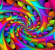 Rainbow 3D Spiral by Kitty Bitty