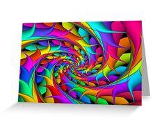 Rainbow 3D Spiral Greeting Card