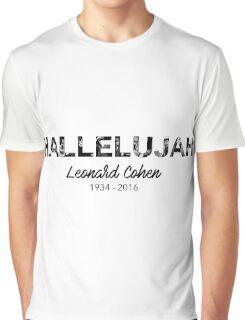 Hallelujah - Leonard Cohen Tribute Graphic T-Shirt