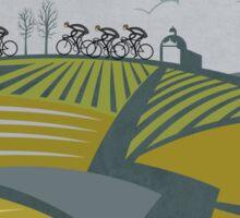 Retro Vlaanderen cycling poster Sticker